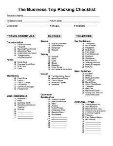 the business trip packing checklist checklist 4 women